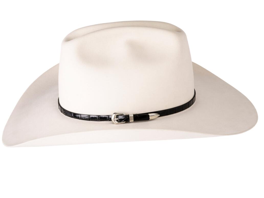 Kallas Black Gator Sterling Buckle Hat Band 5893