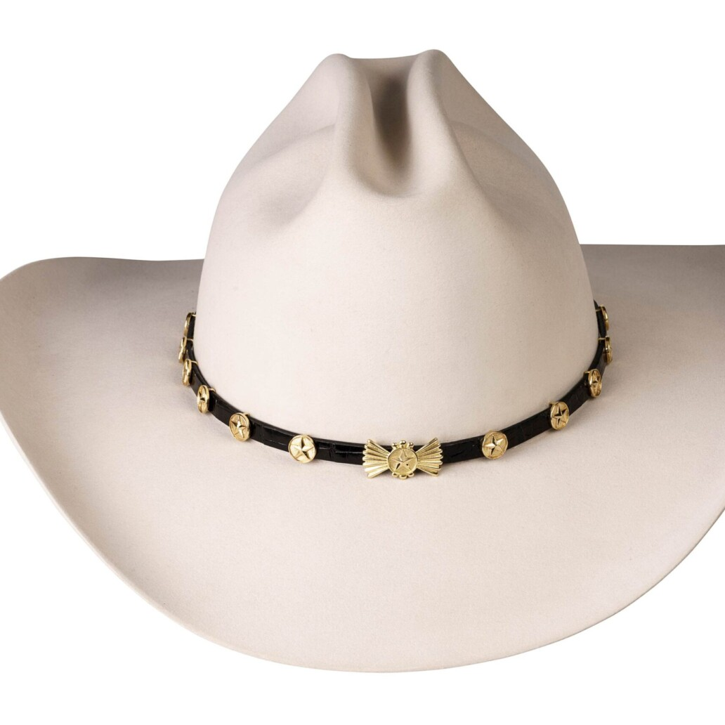 Lone Star 18K Gold Hat Band