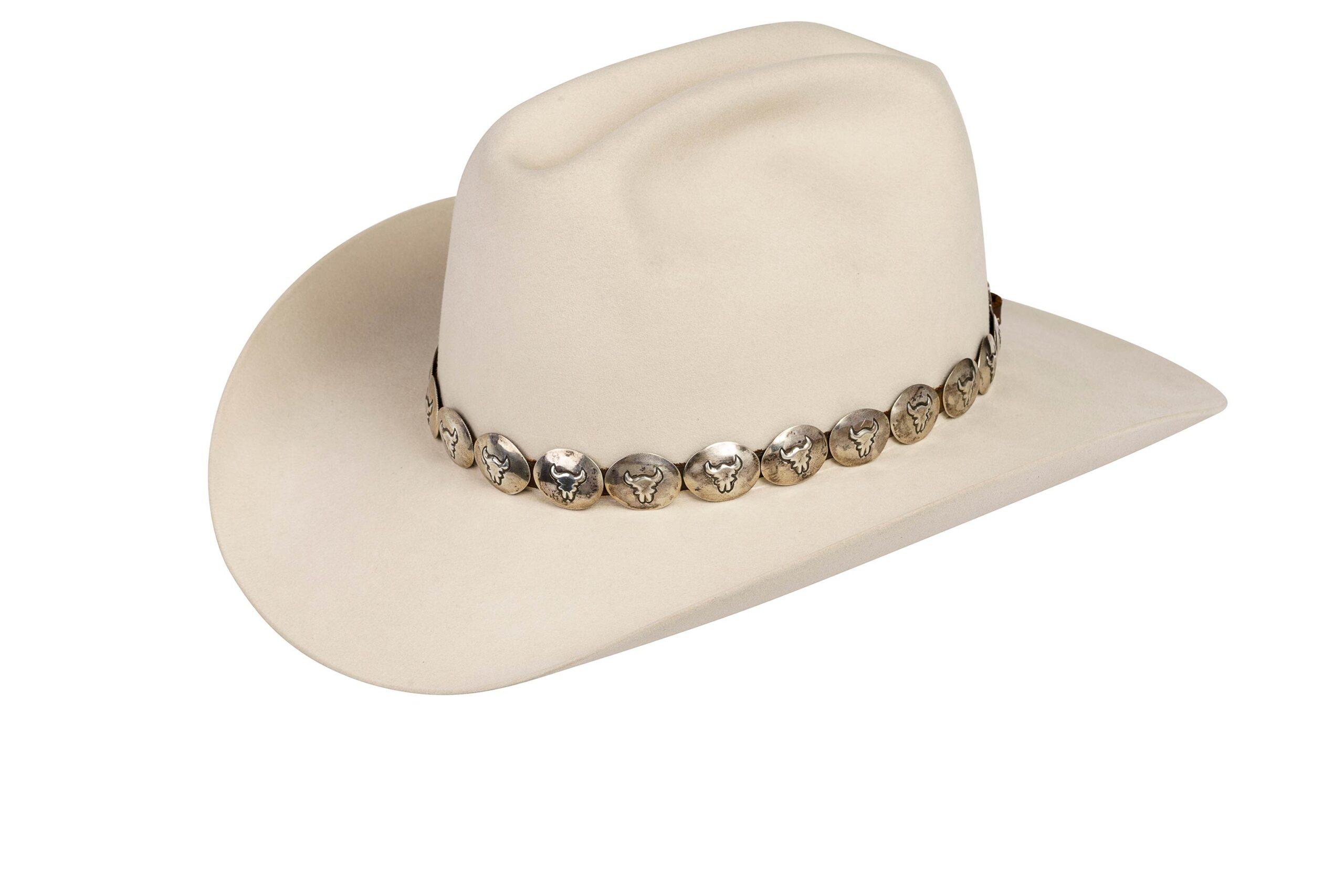 Pepe Buffalo Skulls on Sterling Oval Hat Band
