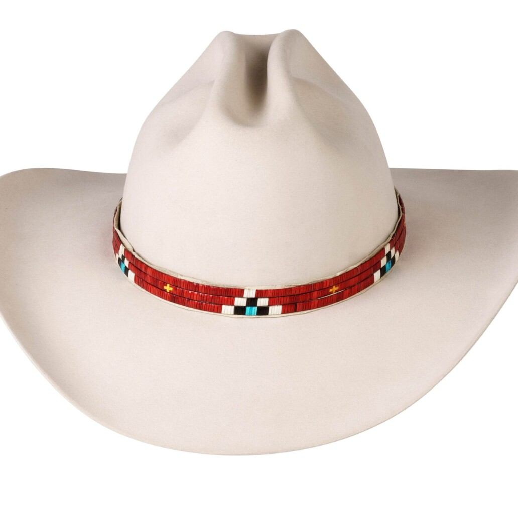 Quill Three Strand Porcupine Quill Hat Band
