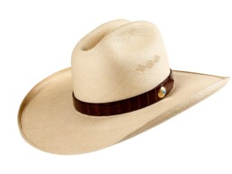 Wide brimmed Tecate Cattleman Panama Hat