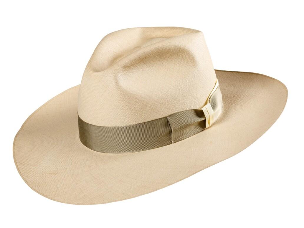 Wide brimmed Three Point Dress Panama Hat