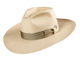 Wide brimmed Three Point Dress Panama Hat