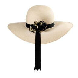 Cloche Panama Hat Back